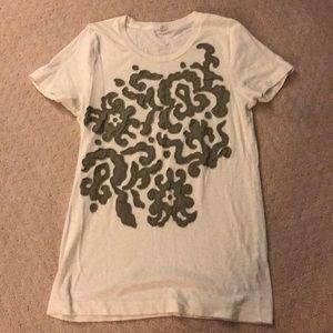 J Crew Cotton Med Tee Shirt.